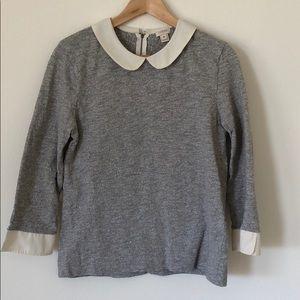 Peter Pan collar 3/4 sleeve sweater